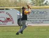 adam catches a fly ball . . .