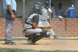 aaron behind the plate