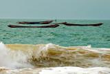Behind the waves...