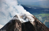Aerial Mayon crater