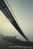 Bridge over Agusan Marsh on a misty morning