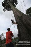 Gil assists Rhon for demo climb