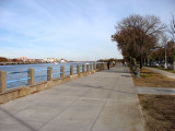 Shore Boulevard side of Sheepshead Bay. Often had picnics with my family on these benches - watched the bay and fishing boats