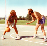 Ken & Jeff (Richard's friends from Brooklyn) talking trash during a little one on one while visiting Richard in Kent (1970's)