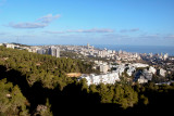 Haifa and the Mediterranean Sea from Moshe and Orna's apartment on Mt. Carmel in Haifa. We stayed in their apartment.