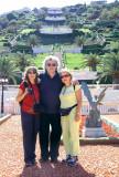 Judy, Orna & Richard - at the lower part of the Baha'i Gardens in Haifa.