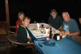 Orna, Moshe, Judy & Richard: Dinner outdoors - Abu Christo Restaurant in the  old city of Akko next to the Mediterranean Sea.