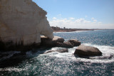 Rock formation carved out by the sea at Rosh Hanikra - at the Lebanese border.