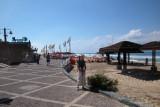 Judy at Camel (not Carmel) Beach  on the Mediterranean Sea in Haifa.