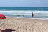 Judy  next to the Mediterranean Sea on Camel Beach in Haifa.