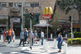 Main intersection in Hadar in Haifa. McDee's is everywhere :-)