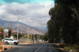 In the Golan Heights near a military checkpoint to enter Syria