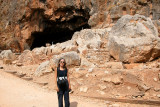 Banias Cave: Judy near the cave that may have been part of the Temple of Augustus built by King Herod around 20 b.c.e.
