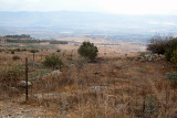 Fenced-in area in the Golan Heights overlooking the Hula Valley: A military position used by Syria in Syrian/Israeli wars