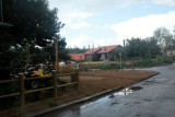 Vacation bungalows at the Kibbutz Merom Golan in the Golan Heights.