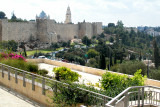 Jerusalem: Wall surrounding the Old City. It was built by the Turks in the mid 1500's.