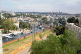 Modern Jerusalem: Shown is the central hub for rail transportation - photo from the top of the Old City wall