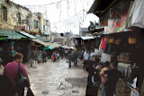 Jerusalem: Outdoor Arab market in Muslim Quarter of the Old City after we descended from the Old City Wall at the Damascus Gate.