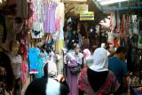 Jerusalem: An indoor Arab market in the Muslim Quarter of the Old City.