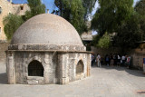 Jerusalem: The Old City – Courtyard with a dome that is on top of the Crypt of St. Helena, built by the Crusaders.