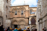 Jerusalem: The Old City – Entrance to the Church of the Holy Sepulcher – the most sacred Christian place in Jerusalem.