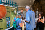 Jerusalem: Old City – Judy, Moshe & Orna bought a drink called Sahlab at an Arab stand in the Muslim Quarter of the Old City.