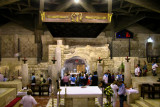 Nazareth: The lower church of the Basilica of the Annunciation. Gabriel's announcement to Mary occurred here.
