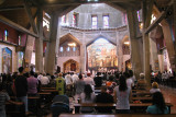 Nazareth: The upper church of the Basilica of the Annunciation - parish for Nazareth's Roman Catholics.