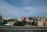 Photo of Nazareth - from our car as we were leaving the city.
