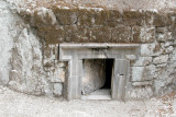 Bet She'arim: Entrance to the burial Cave of the Head of the Sidonian Synagogue in the necropolis.
