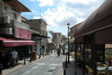 Jerusalem Street – main street in Tzfat. We had coffee in the outdoor café on the right – see next photo.