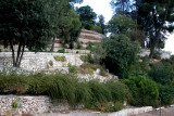 Tzfat: Wall surrounding the Citadel at the top of the town - largest Crusader castle/fort in the Middle East.