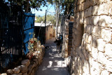 Passageway in Ein Hod which is a communal settlement of artists and craftspeople.