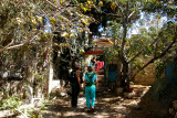 Judy and Orna in Ein Hod which is a communal settlement of artists and craftspeople.