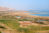 Sinkholes next to the Dead Sea  - pools/cavities of water caused by the Dead Sea shrinking in size.