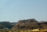 View of Masada as we were leaving it and heading north.