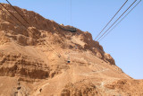 Masada: Cable car, upper cable car station & walking path (Snake Path) to the top. We took the cable car.