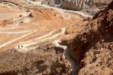 Snake Path at Masada – people can walk to the top of Masada on this path instead of using the cable car.