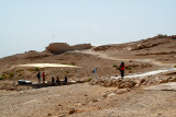 Top of Masada: Building was the residence for King Herod's family (1st century b.c.e.). Canopy - protection from the desert sun.
