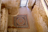 Mosaic on the floor of a corridor leading to the private bath in King Herod's Western Palace (30 b.c.e.) on top of Masada.