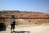 Judy on top of Masada - the Judean Desert is in the background.