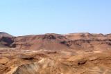 The mountainous Judean Desert next to Masada.