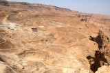 Rectangle on the right is the trace of one of the Roman encampments surrounding Masada in the Judean Desert (1st cent. c.e.).