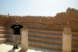 Moshe - in a structure on Masada which was a synagogue during the Jewish revolt against the Romans (around 70 c.e.)