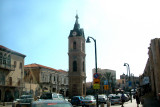 Clock tower in Jaffa's central square. Completed in 1906 - marks 30th anniversary of Ottoman sultan, Abdul Hamid II's reign.