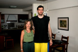 Judy and Oren. Oren is Moshe's son and plays professional basketball in Israel.