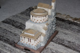 Model: Bottom two terraces of King Herod's Northern Palace. The lowest terrace here is shown in the previous photo