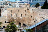 Jerusalem: Old City - The Jewish Quarter – The Western Wall to the left of the excavation site.