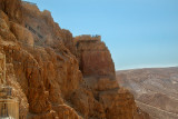 Stairway on side of Masada's cliff. We used stairway to go from the top of Masada to the lowest level of King Herod's Palace.