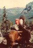 Richard on a backpacking trip in the mountains of Montana. What's a nice Brooklyn boy doing on a horse? :-) (8/1972)